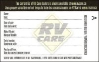 RV Care card
